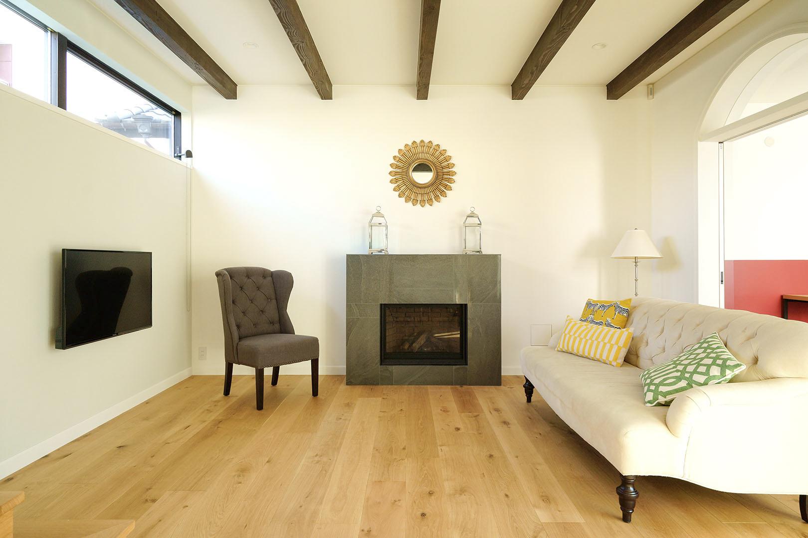 暖炉のある家_H建築スタジオ